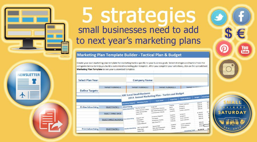5 strategies small businesses need to add in next years marketing 5 strategies small businesses need to add in next years marketing plans smallbiz marketing wajeb Image collections