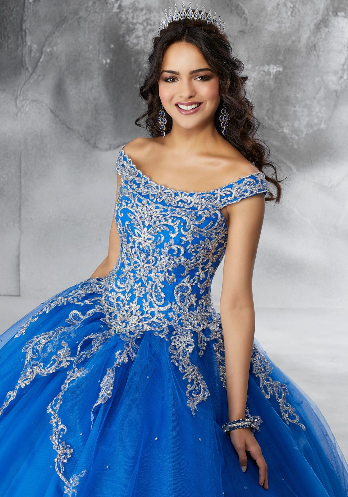 c92b76acff05 Beaded, Metallic Embroidered Appliqués on a Princess Tulle Ballgown ...