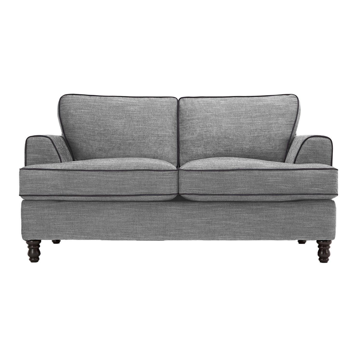 Bonnie 2 Seater Sofa Bed Light Grey Dark Grey Piping Sofa 2 Seater Sofa Home