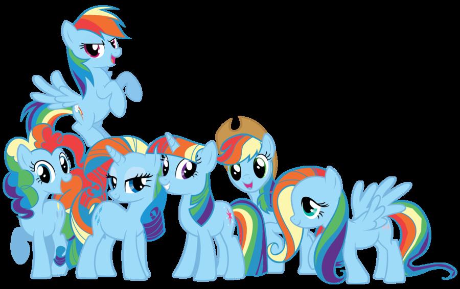 Mane 6 As My Little Rainbow Dash By Shadowhedgiefan91 Deviantart