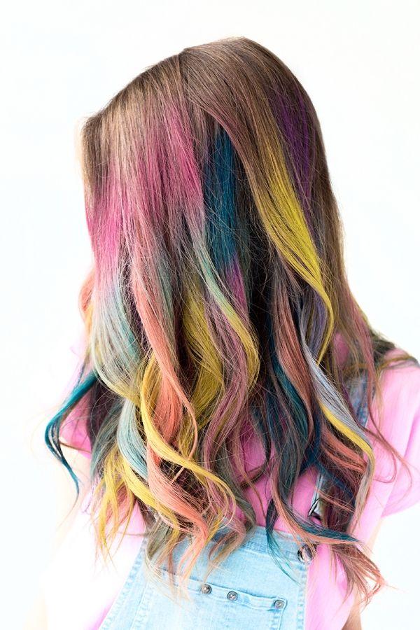 Diy Temporary Colombre Hair Hair Styles Hair Chalk Kids Hair Color