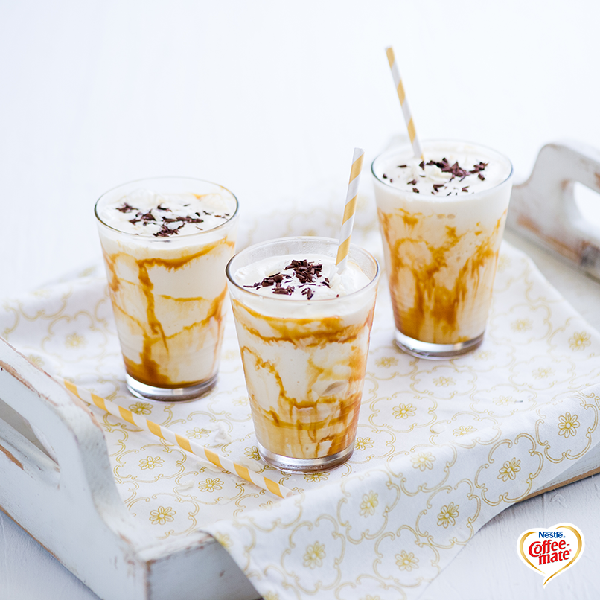 Calling all cookie monsters! This divine milkshake treat will have you diving for your Coffee-Mate creamer instead of your cookie jar!