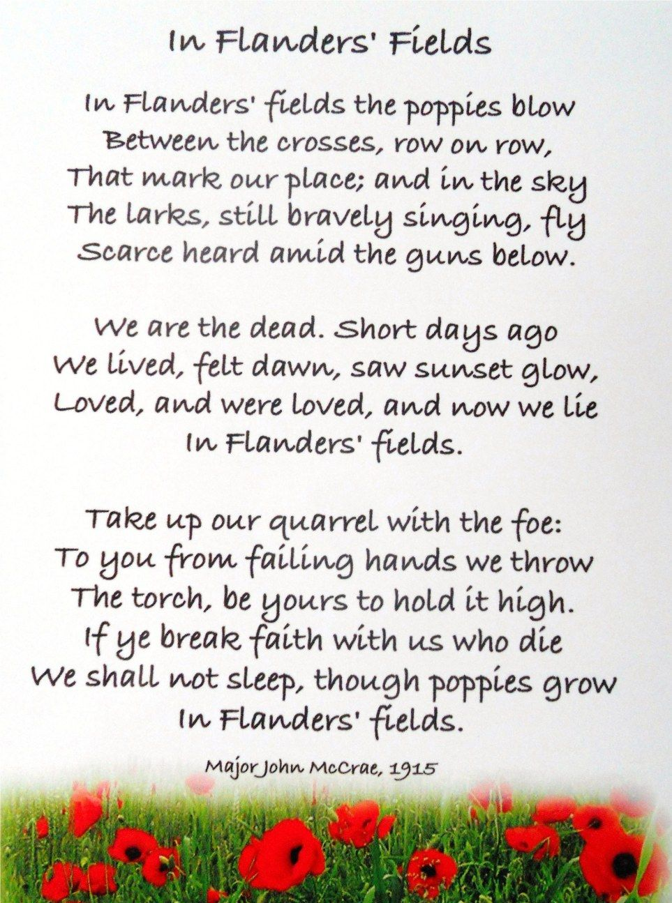 Image result for in flanders fields poem
