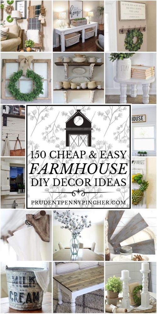 Photo of 150 billige und einfache DIY Bauernhaus Dekor Ideen