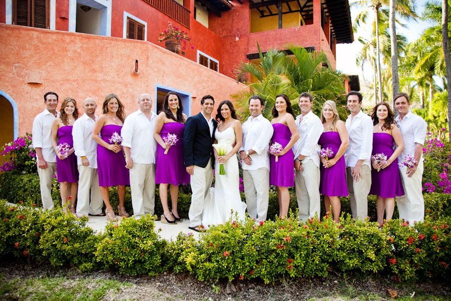 Real Weddings Elena Aj Purple Wedding Themeswhite