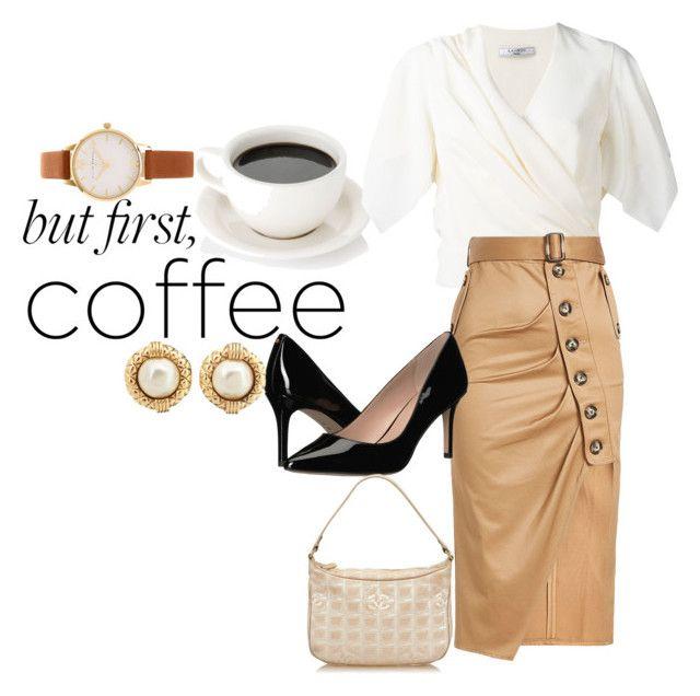 """Is it my coffee break yet?"" by mackaboo on Polyvore featuring Lanvin, self-portrait, BCBGeneration, Chanel, Olivia Burton, coffee and coffeebreak"