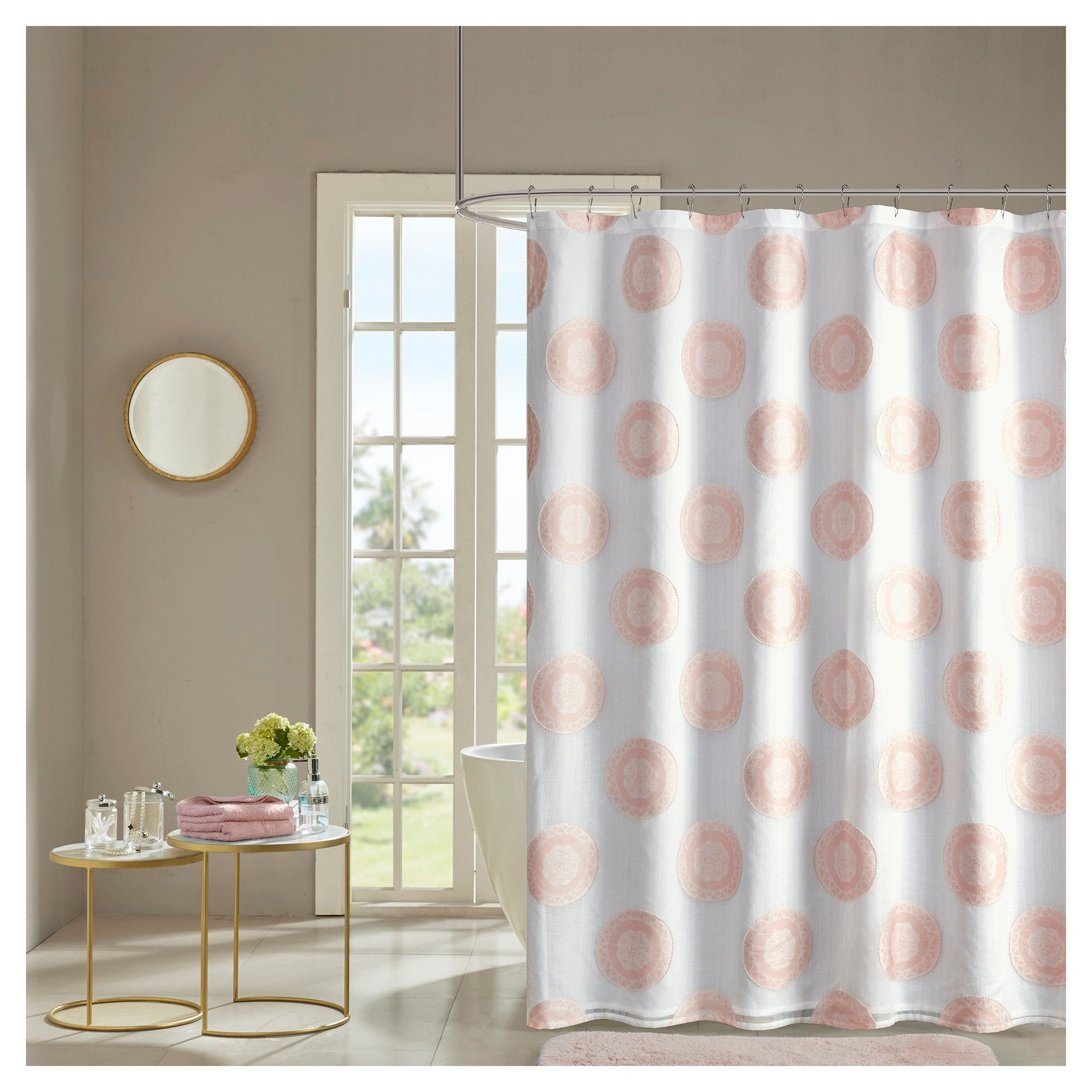 Eureka Clipped Lined Shower Curtain