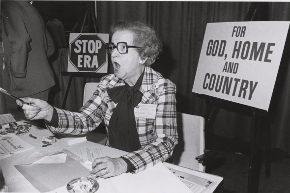Anti-ERA Booth at the First National Women's Conference