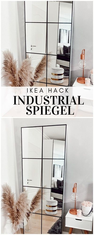 Photo of SPIEGEL IM INDUSTRIAL STIL DIY – GRID MIRROR IKEAHACK SUPER
