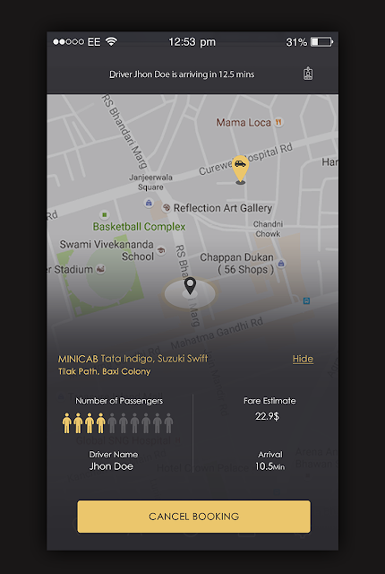 My Taxi App UI Design | веб мобил прид | App ui design, Ui