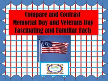Compare and Contrast Memorial Day and Veterans Day ...
