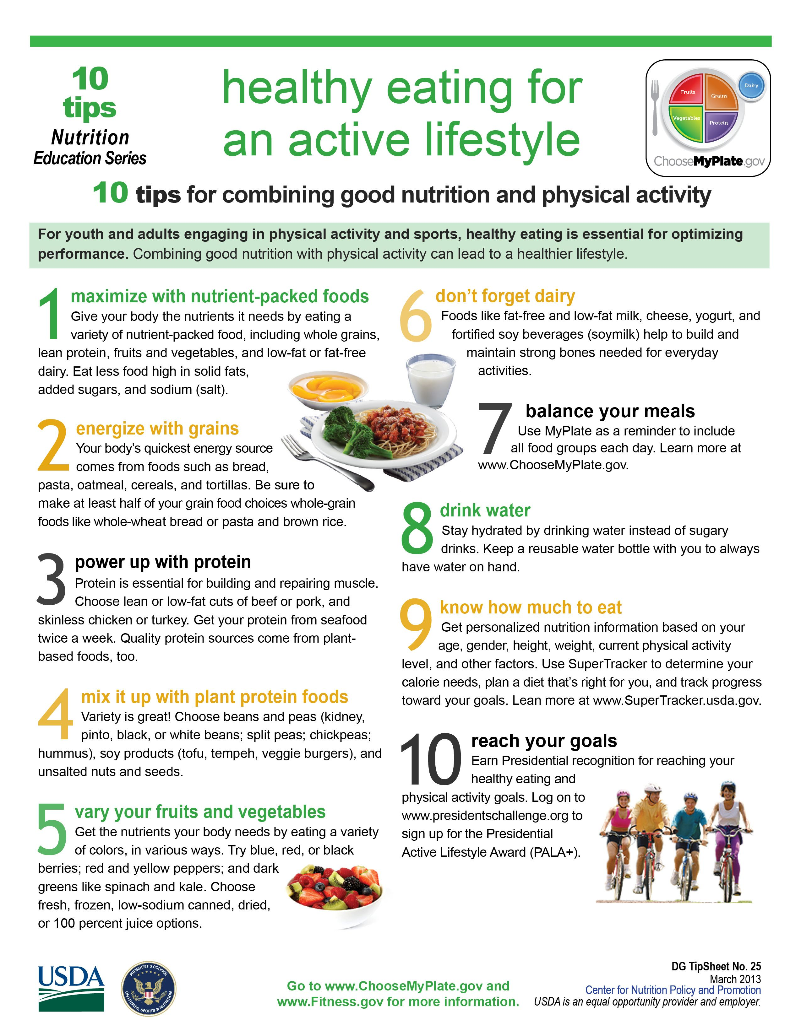 """10 Tips: """"Healthy Eating For An Active Lifestyle."""""""