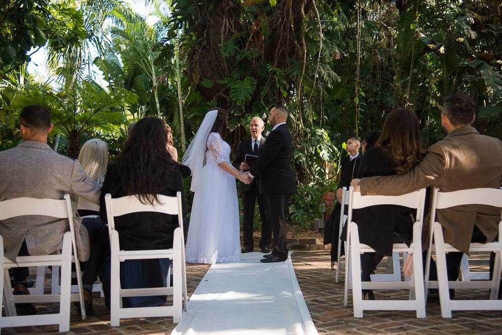 Vow exchange during Wedding at Sunken Gardens, St