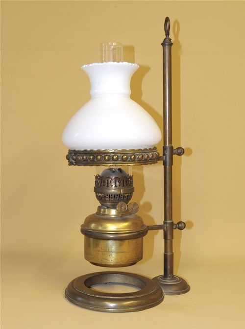 Antique Brass Oil Lamp