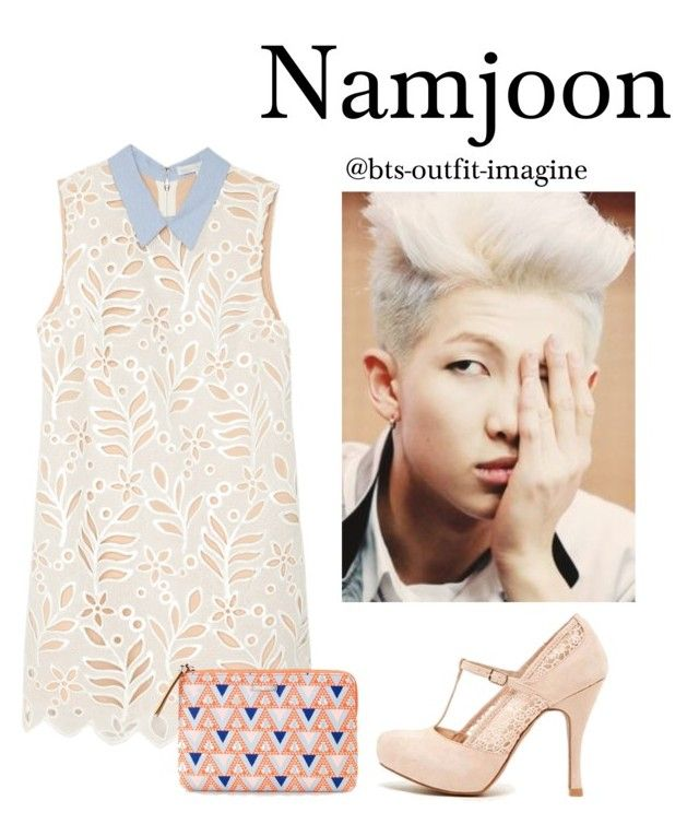 """Valentines day (RM)"" by effie-james ❤ liked on Polyvore featuring art, simple, kpop, korean, bts and rapmonster"