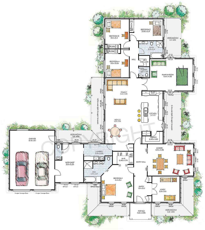 Paal Kit Homes Franklin Steel Frame Kit Home Reversed Plan Nsw Qld Vic Australia Dream House Plans Floor Plans Kit Homes