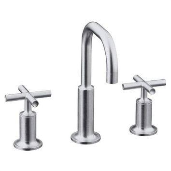 Bathroom Faucet Gooseneck kohler kohler purist widespread lavatory faucet with low gooseneck