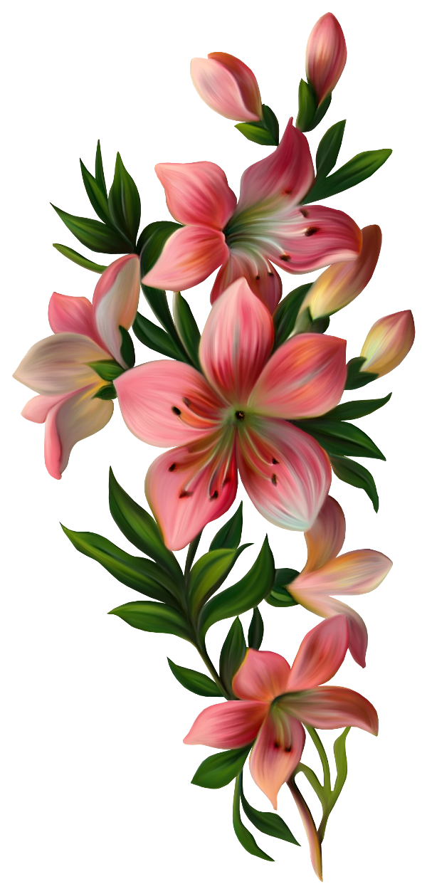 Винтажные цветы - Цветы - Клипарты PNG - Клипарты у Анны.