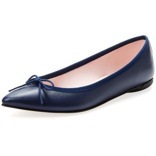 d3566cda3707 Repetto Women s Brigitte Leather Pointed-Toe Flat - Dark Blue Navy ( 249)