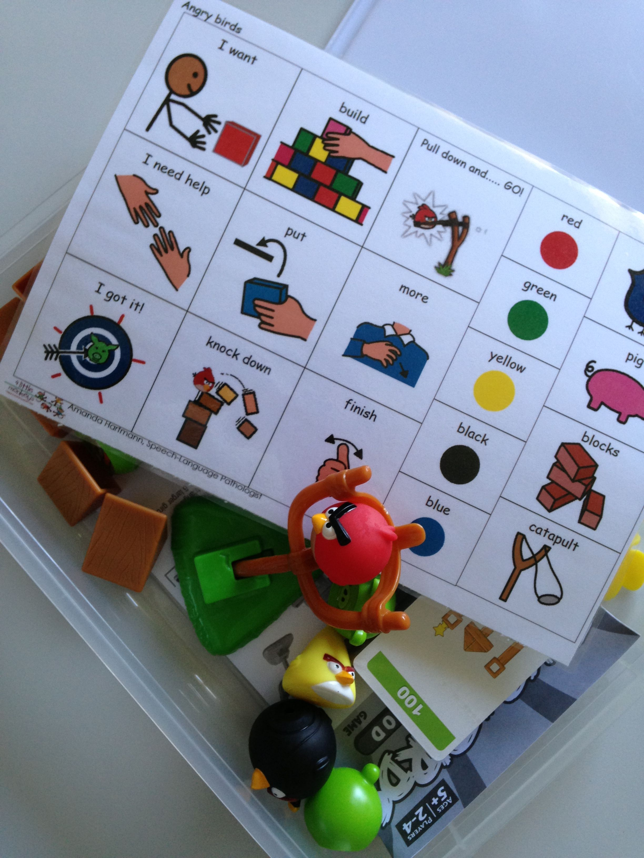 Aided Language Stimulation Board Stored With The Game