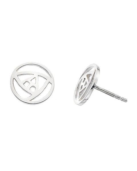 31a5cd114 Elegant Charles Rennie Mackintosh sterling silver stud earrings. Length:  0.25