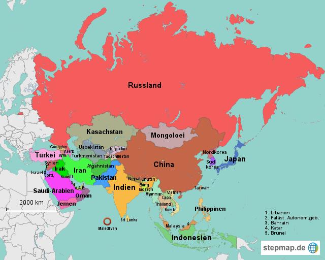 Landkarte Asien.Bildergebnis Fur Asien Karte Erdkunde Asien Karte Asien