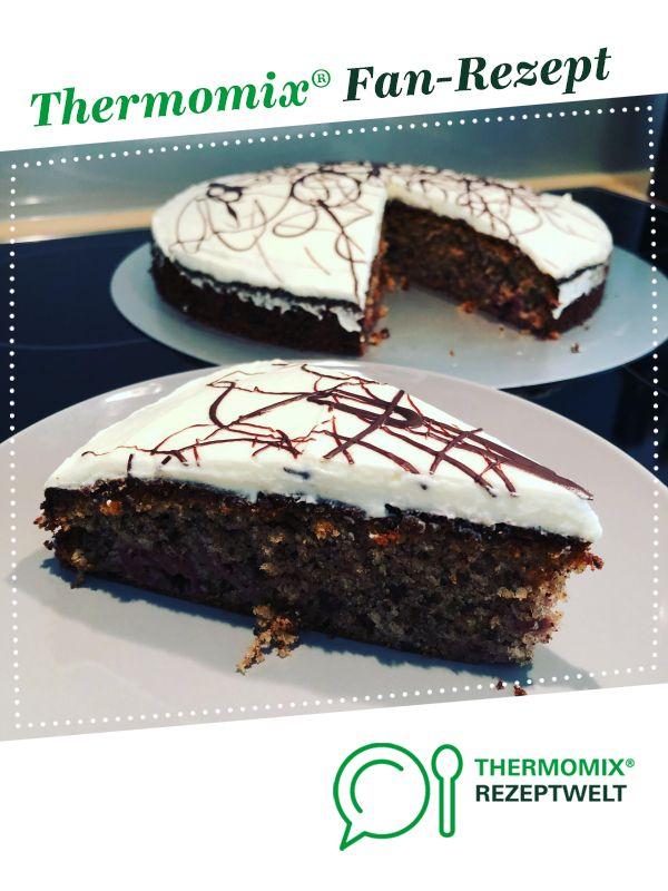Saftiger Schoko Kirsch Kuchen Rezept Thermomix Pinterest