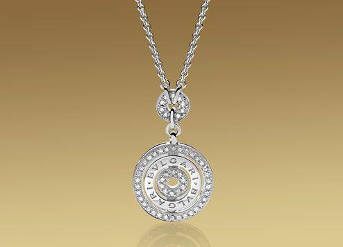 Collana ASTRALE in oro bianco 18 carati e pavé di diamanti.