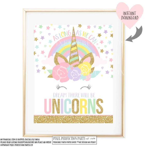 Unicorn Wall Quote Unicorn Party Sign As Long As You Can
