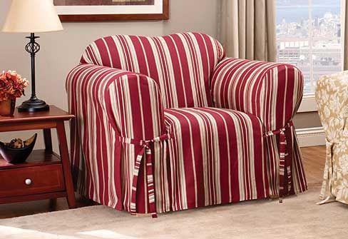 Stripes   South Hampton Stripe Chair Slipcover