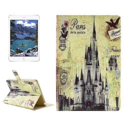 For+iPad+mini+4+Castle+Pattern+Horizontal+Flip+Leather+Case+with+Holder