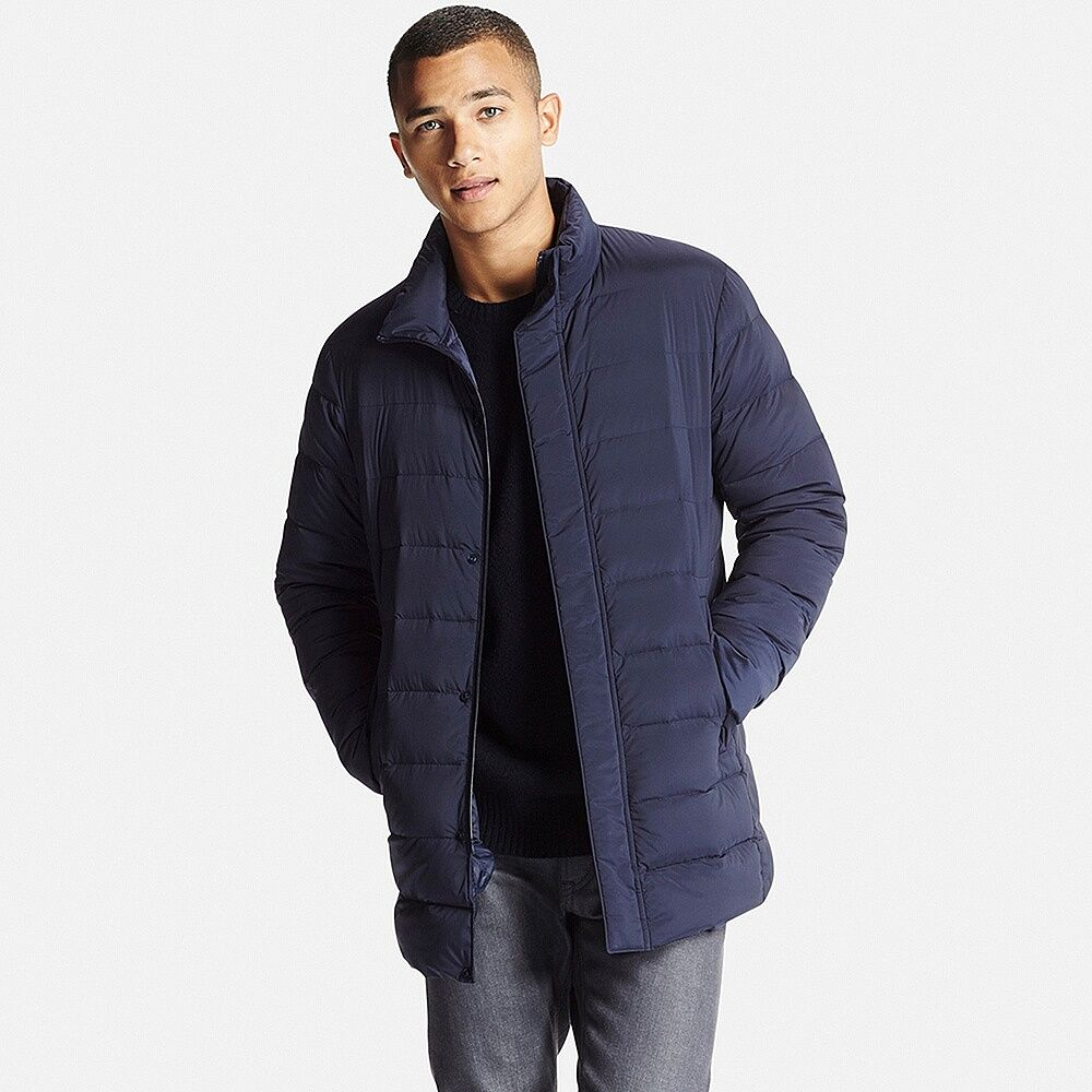 MEN Ultra Light Down Half Coat | Mens coats, Parka vest, Jackets