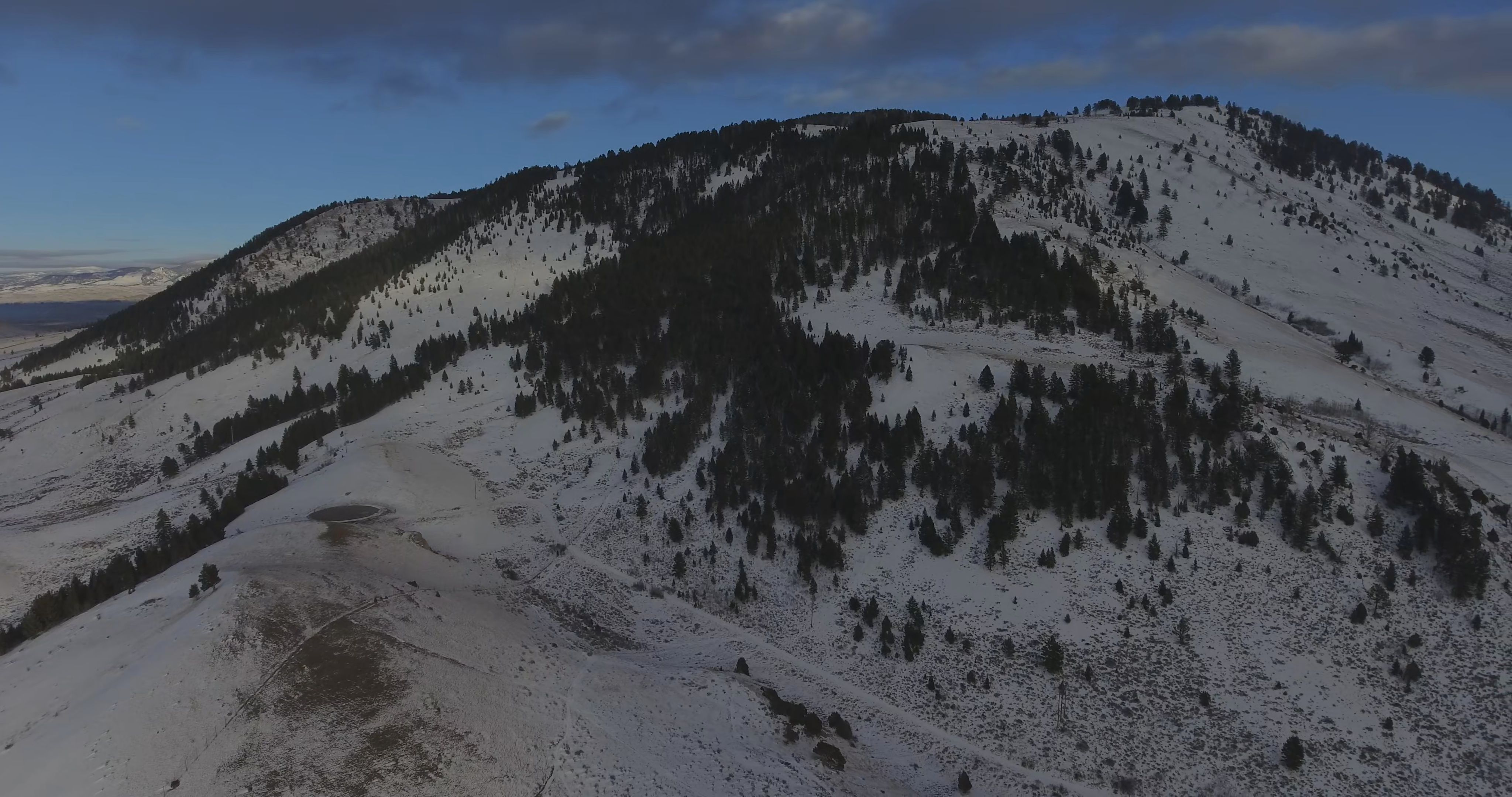 Aerial Of Snow Covered Mountain Winter Nature Landscape Scene 4k Stock Footage Mountain Winter Covered Aerial Winter Nature Winter Landscape Mountains