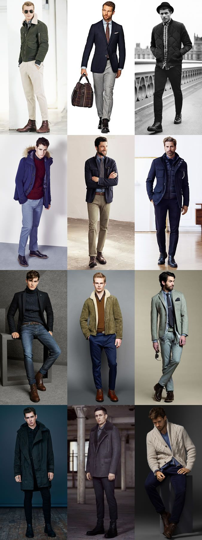 Men's Leather Lace-Up Boots Outfit Inspiration Lookbook