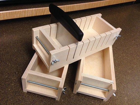 2 3 livres coupeur de savon en bois et savon moules avec couvercles. Black Bedroom Furniture Sets. Home Design Ideas