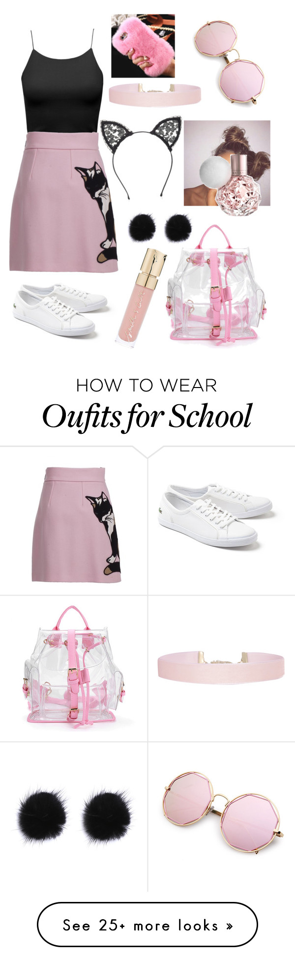 """001"" by anelegoulding on Polyvore featuring MSGM, Lacoste, Humble Chic, Smith & Cult and Fleur du Mal"