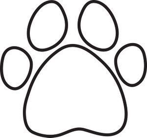 paw print clip art free coloring page clip art images coloring rh pinterest com au free cat paw print clipart panther paw print clip art free