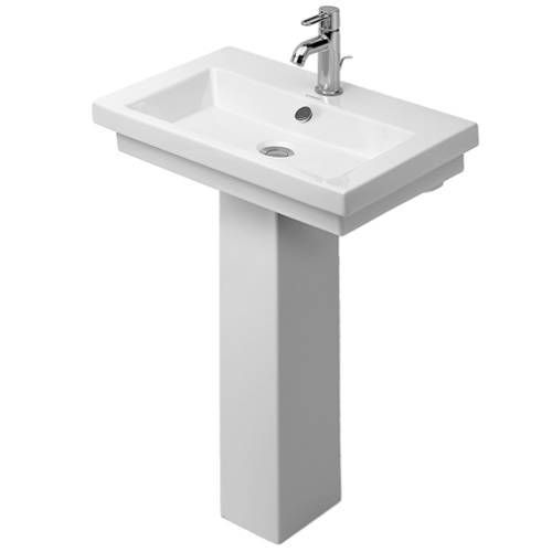 "Duravit D30029-D30030 2nd Floor 23 1/2"" Washbasin with ..."