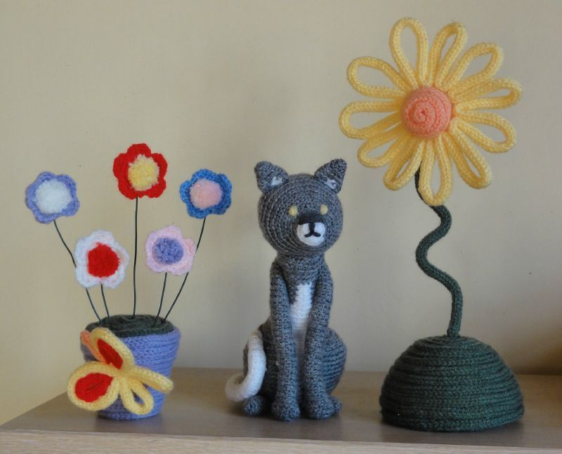 French Knitting Flowers : Beau projet de tricotin tricots pinterest special