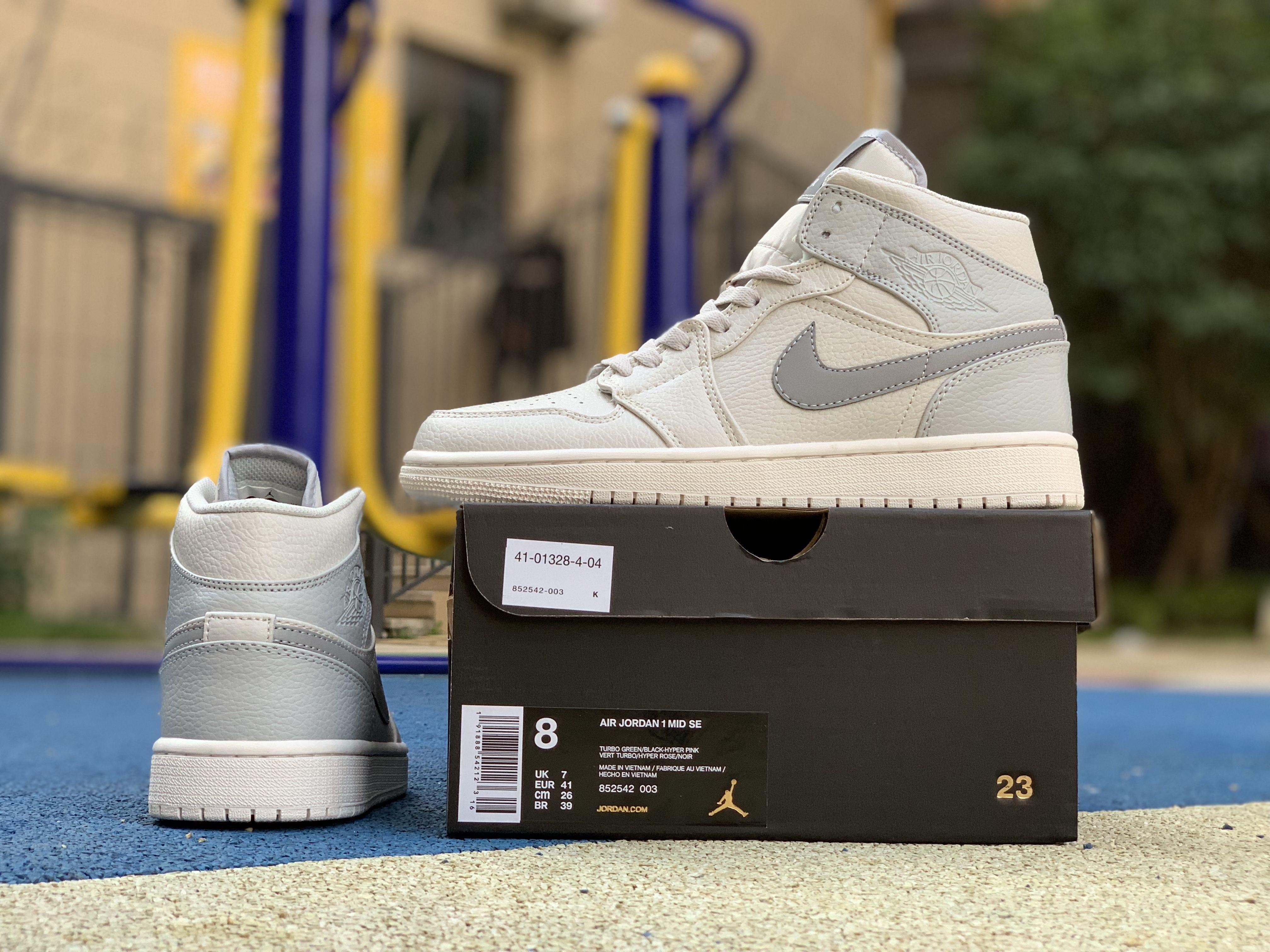 2e9a1eb51560 Cheap Air Jordan 1 Mid SE Bone Grey 852542-003 in 2019