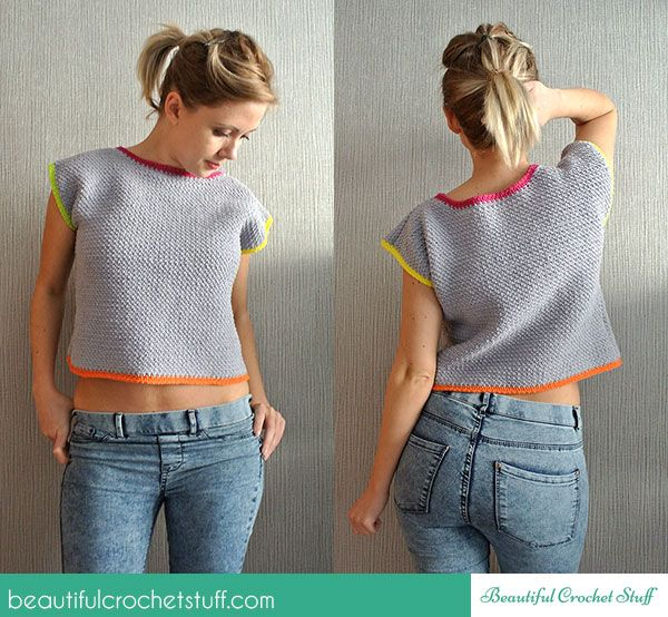 Crochet Crop Top Free Pattern | fashion for women | Pinterest ...