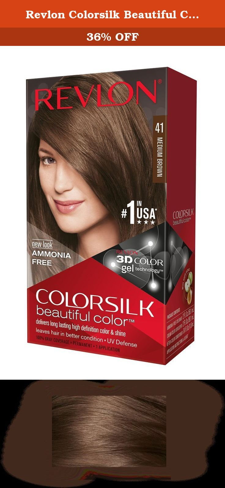 Colorsilk beautiful color 55 light reddish brown by revlon hair color - Revlon Colorsilk Beautiful Color Medium Brown Our Revlon 3d Color Technology Delivers Natural Looking