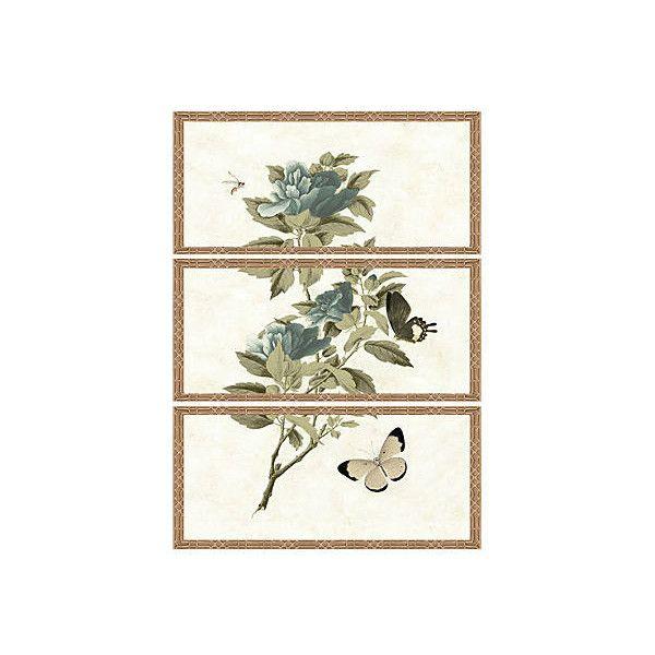 Winterthur Botanical Triptych I Original Vintage Prints ($569) ❤ liked on Polyvore