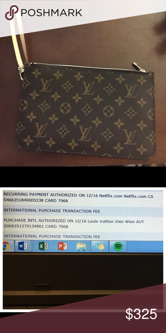 Louis Vuitton Neverfull MM wristlet added pics Additional