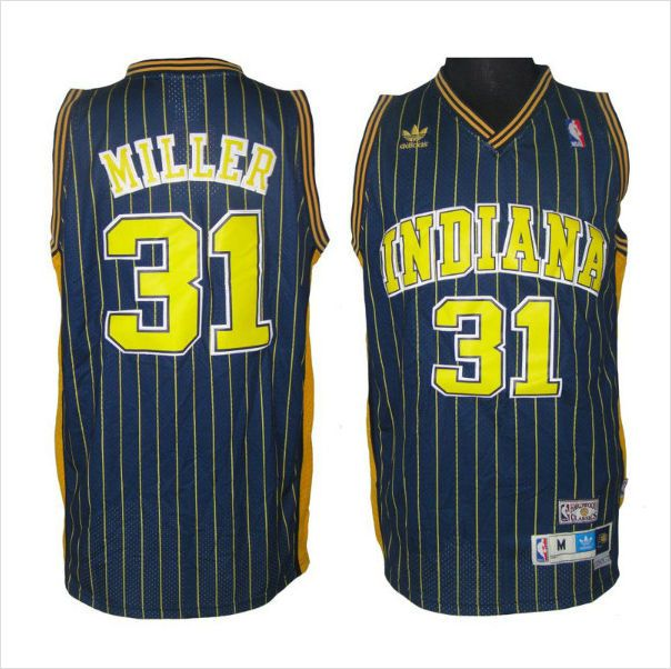 f98efeff9c8 ... where can i buy swingman jersey mens indiana pacers reggie miller 31  black authentic nba basketball