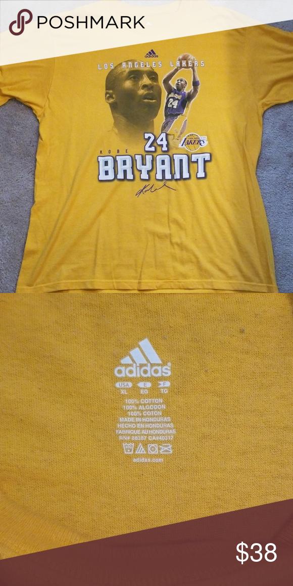 new concept bc85d 13f98 Los Angeles Lakers Kobe Bryant tshirt Good condition adidas ...