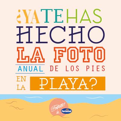 ¿Ya te has hecho la foto anual de los pies en la playa? #veranofontastic