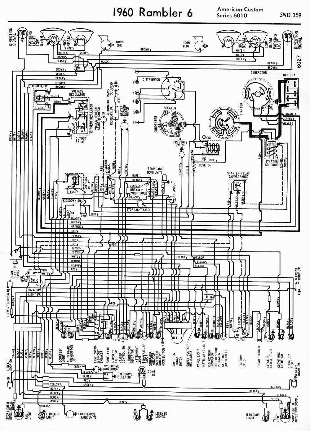 Wiring Diagrams Of 1960 Rambler 6 American Custom Series