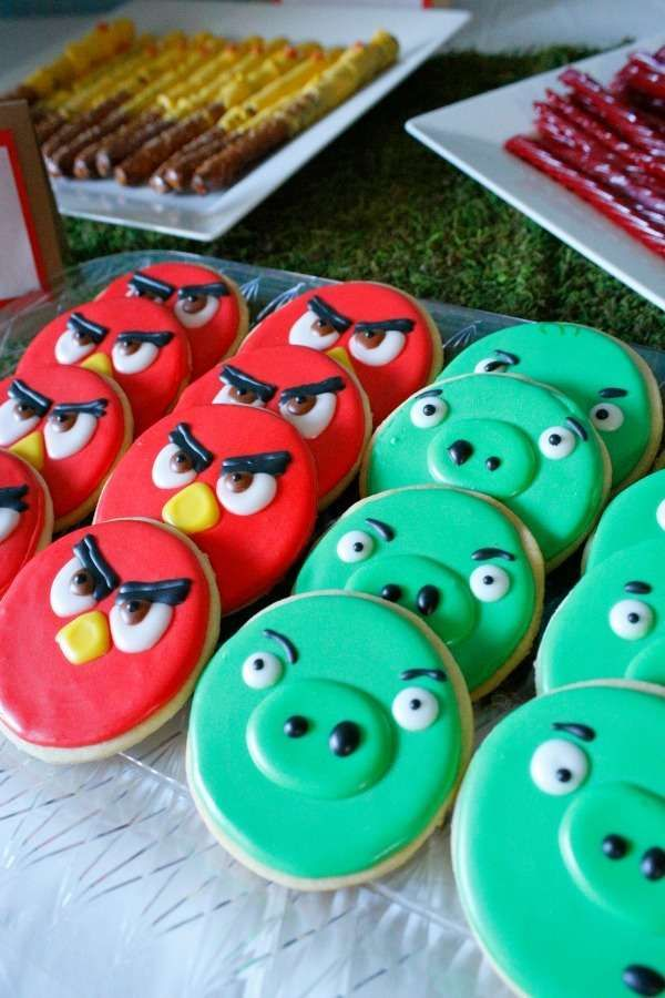 6e03df38a Loving these awesome Angry Birds cookies! See more party ideas at  CatchMyParty.com