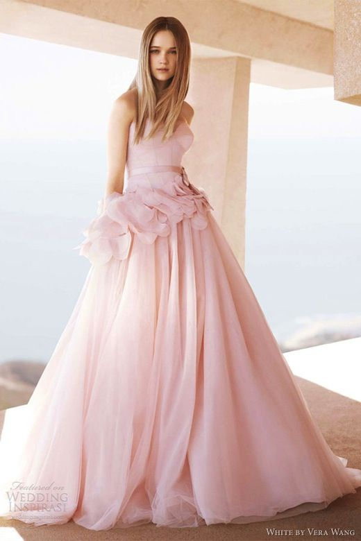 The Finally Affordable White By Vera Wang Wedding Dresses Pink Wedding Gowns Wedding Dresses Vera Wang Pink Wedding Dresses